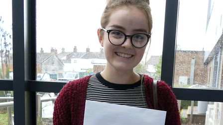 College of West Anglia student Phoebe Cox, from Emneth, achieved two As and one C in her A-Levels. P