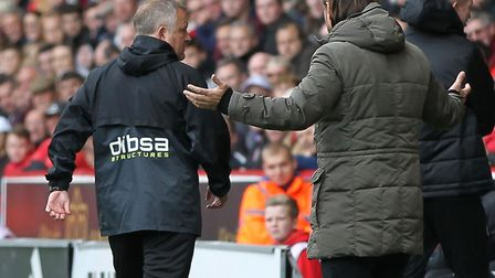Daniel Farke and Chris Wilder got to know each other at Bramall Lane Picture: Michael Sedgwick/Focus