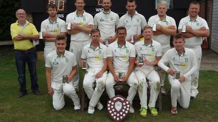 The victorious Dereham team pictured after beating Hethersett and Tas Valley in the final of the Car