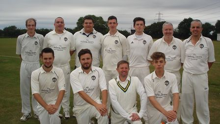 Bradenham Cricket Club face the camera. Alex Bates is second from the left on the front row Picture: