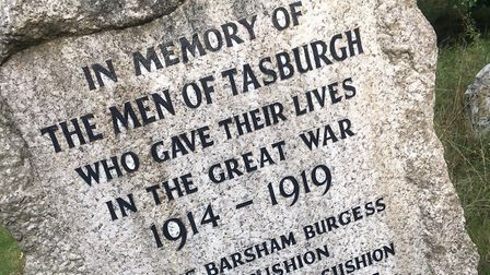 Two names could be added to Tasburgh war memorial to mark the centenary of the end of the First Worl