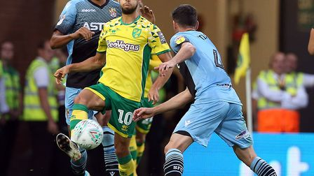Will Moritz Leitner feature for Norwich against a robust Sheffield United? Picture: Paul Chesterton/