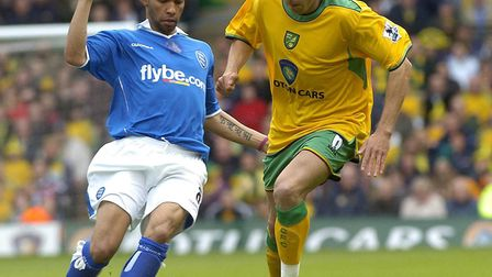 Turning back the clock - Darren Huckerby against Birmingham during the final game of the 2004-05 Pre