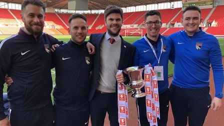 Top team, from left, Chris Linehan, Olly Willis, Adam Gusterson, Gavin Lemmon, and Harry Diggens Pic