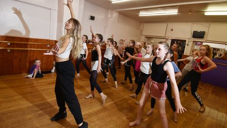 Dancer Caoife Coleman, who stared in The Greatest Showman film, at Heather Millan Dance School in No