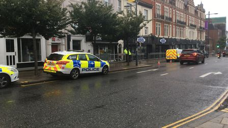 Officers were called to the flat, above Bished nightclub in Prince of Wales Road. PIC: Staff picture