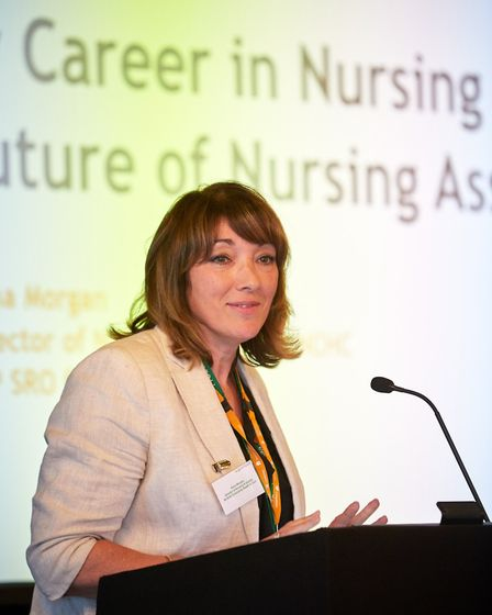 The Nursing Associate Launch in Norwich. Anna Morgan speaking. Picture: Keiron Tovell