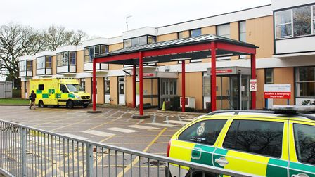 Accident & Emergency Department entrance at The Queen Elizabeth Hospital in King's Lynn. Photo: The