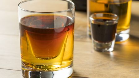 Jagerbomb ready to mix. Picture: Getty Images/iStockphoto