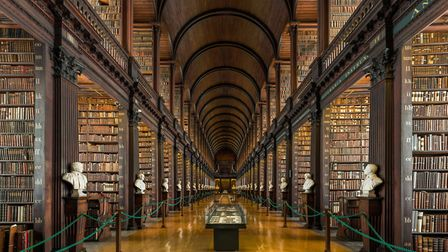 Scenes of Dublin: The Long Room of the Old Library at Trinity College Picture: DAVID ILIFF. Wikim