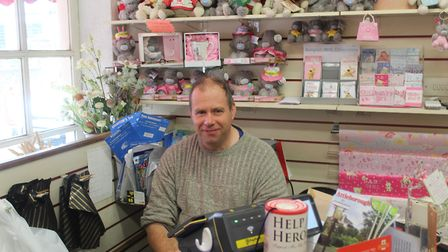 Paul Neve the owner of The Card and Gift Box. Picture: Marc Betts