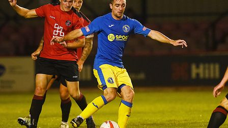 Craig Parker scored during Lynn's 7-0 rout of Histon Picture: Ian Burt