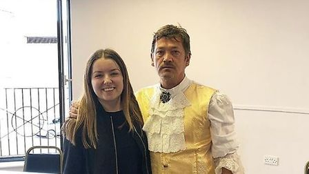 Sid Owen couldn't hide his excitement when I asked for a picture Credit: Louisa Baldwin