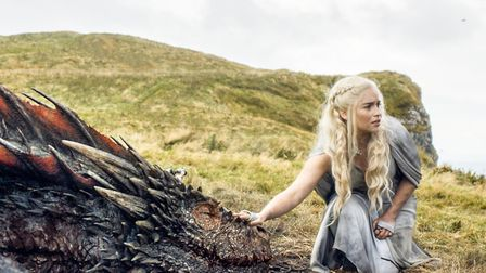 """Emilia Clarke appears in a scene from """"Game of Thrones. Photo: HBO via AP"""