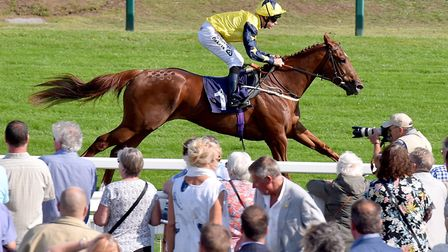 Richard Kingscote rides Massam to victory at Great Yarmouth Picture: Nick Butcher
