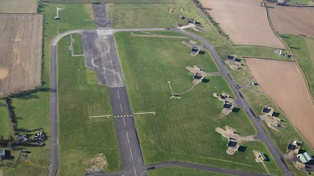 The end of the runway at the former RAF Coltishall Picture: MIKE PAGE