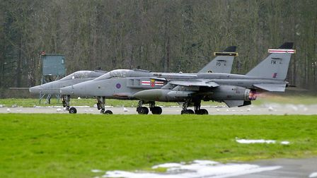 Flashback photograph to the RAF Coltishall runway being put to use. Picture: Sam Robbins