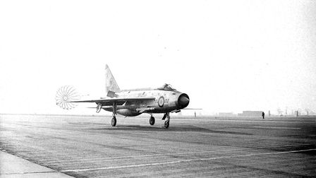 Flashback picture to RAF Coltishall's runway being put into use. Picture: Archant Library