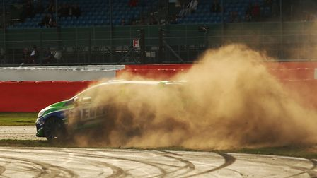 The moment when Dan Zelos'' hopes of a podium place went up in a cloud of dust at Silverstone Pictur