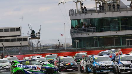 Dan Zelos'' over-ambitious move on the opening lap of the second Renault Clio Cup race at Silverston