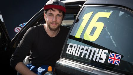 Besthorpe''s Tom Griffiths with his BMW Compact Cup car after taking his first ever race victory at