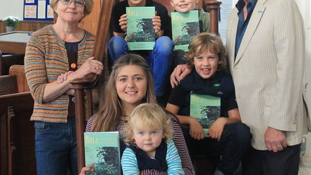 Terry Reeve, with five of his six grandchildren: at the top Oscar, left, and Caspar; in the middle i