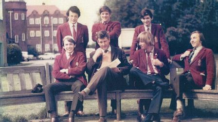 OL Chairman Andrew Stephen and fellow pupils from KES Photo: Old Lennensians