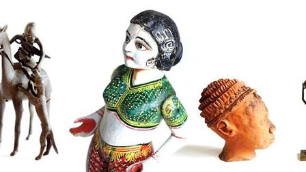 Exotic objects that are part of the Robert Barley auction in Diss. Picture: TW Gaze