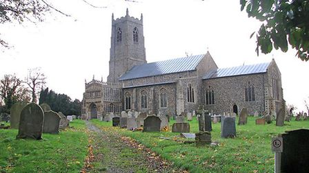 St Mary the Virgin church in Pulham St Mary, opposite the land where work has been carried out. Pict