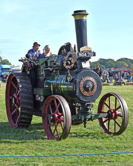 Jane Clifford was among the visitors to the Grand Henham Steam Rally to try out the public steering