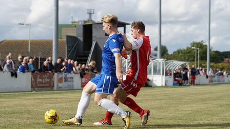 Lowestoft's Kieran Higgs in possession Picture: Shirley D Whitlow