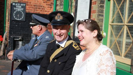 Tunstead couple Chris and Julie Buck, who attended a vow renewal ceremony held at St Peter's Church,
