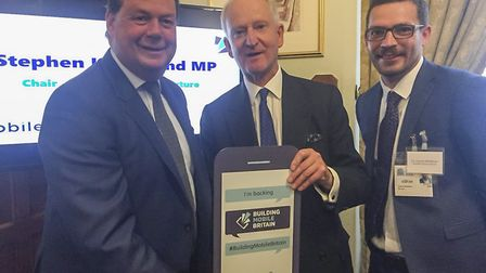 Stephen Hammond MP, Sir Henry Bellingham and councillor Graham Middleton. Picture: Norfolk County Co