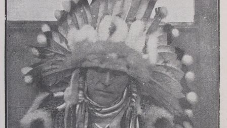 A signed photograph of Chief White Elk, who supplemented his earnings by selling pictures of himself