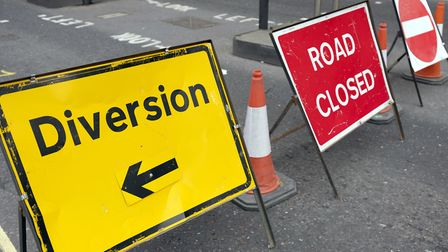 Victoria Road in Diss will be closed and traffic diverted for resurfacing work. Picture: Archant Lib