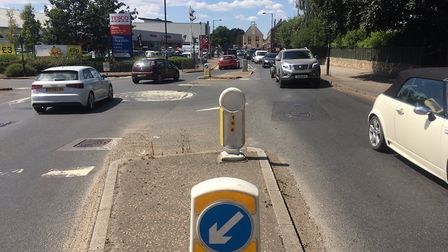 Victoria Road in Diss will be closed on the first of four Sundays of resurfacing work. Picture: Simo