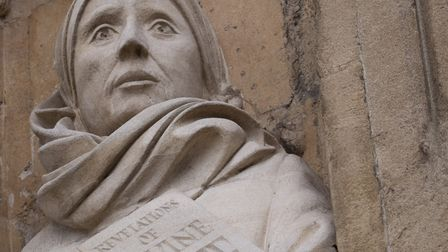 The Julian of Norwich statue, at Norwich Cathedral. Photo: Talking Statues