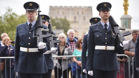 Battle of Britain ceremony at Norwich City Hall.Picture: ANTONY KELLY