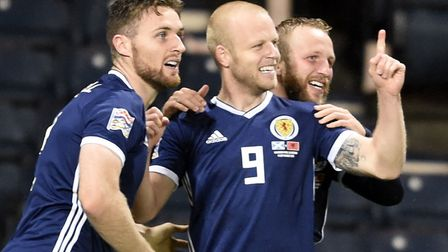 Scotland's Steven Naismith was on target in the Uefa Nations League win over Albania Photo: Ian Ruth