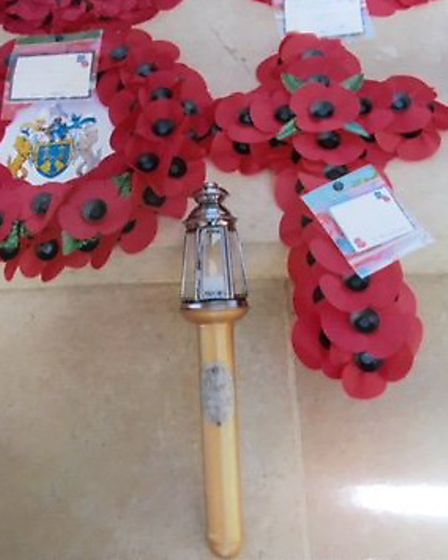 The Norfolk Torch of Remembrance is making its journey home from Belgium. Picture: Hugh King
