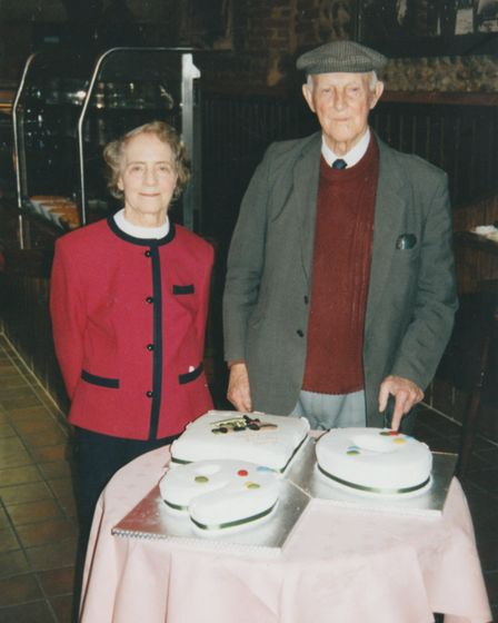 Thursford Collection founder George Cushing celebrating his 90th birthday with wife, Minnie, at Thur