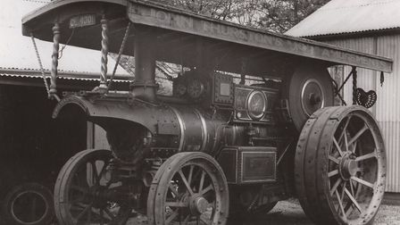 Saved from the scrapyard - the Burrell Victory steam engine bought by George Cushing in 1947 is now