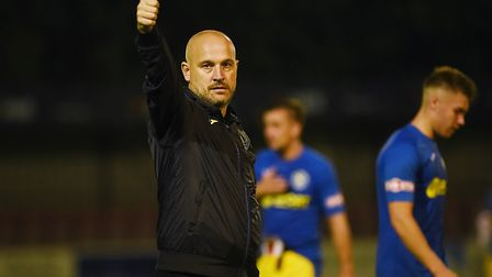 A thumbs up from Robbie Back at the final whistle. Picture: Ian Burt