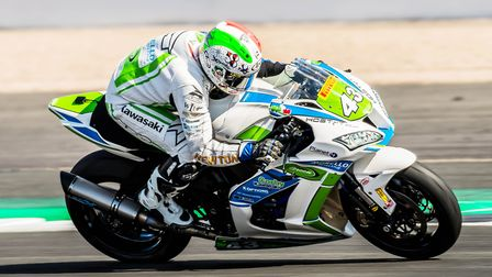 Morello Racing's Kevin Manfredi from Italy had some strong rides for this team. Picture: Barry Clay