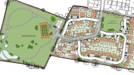 Plans for the Long Stratton development include 52 homes including 17 affordable houses. Picture: Or