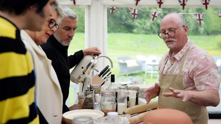 The Great British Bake Off (2018) Episode 3 - Noel, Prue & Paul royal tour with Terry