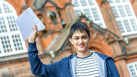 Jacob Biran gained a grade nine in eight GCSE subjects at KES Academy in King's Lynn Picture: Paul T