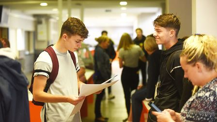 GCSE results day at the Downham Market Academy. Picture: Ian Burt