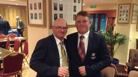 Norfolk Open champion Jack Yule pictured with father and fellow competitor Iain at Thetford last yea