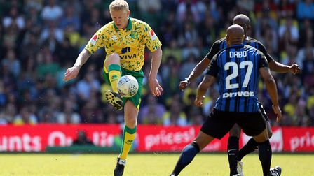 Gary Holt was back in Norwich City colours when he appeared for a legends team against Inter Forever